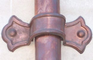 Custom Bow Tie Downspout Strap