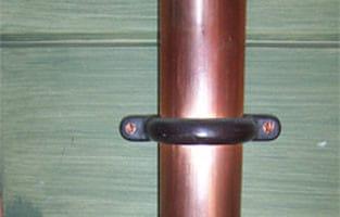 Cast Brass Finished Moderne Downspout Bracket