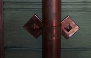 Copper Diamond on Diamond Downspout Bracket