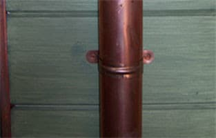 Copper Formed Downspout Bracket