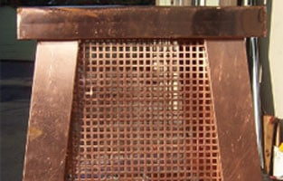 Screened Copper Chimney Cap