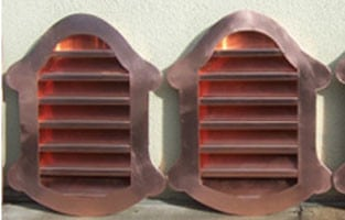 Copper Louver Whimsy Side Wall Vent