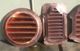 Copper Louver Round Side Wall Vent
