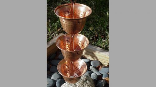 Copper Bell Cup Rain Chain
