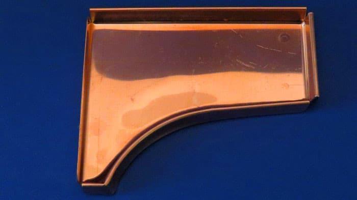 Copper Curved Fascia End Cap