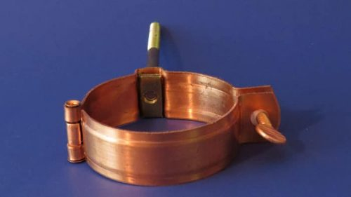 Copper Hinged Downspout Bracket with Screw