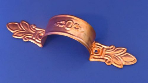 Copper Metco Strap with Stamp Leaf and Medallion