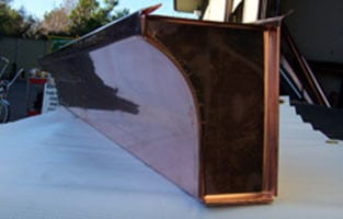 Copper Curved Fascia Gutter