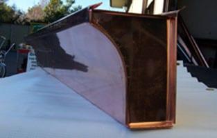 Copper Curved Fascia Gutter