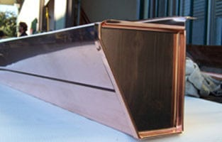 Copper Pencil Bead Fascia Gutter
