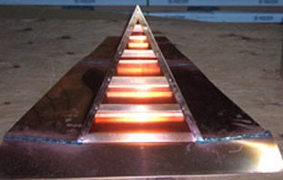 Copper Triangular Louver Roof Vent