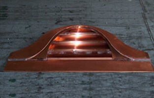 Sweeping Half Round Dormer Louver Roof Vent