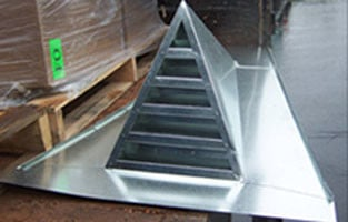 Galvanized Steel Triangular Roof Vent