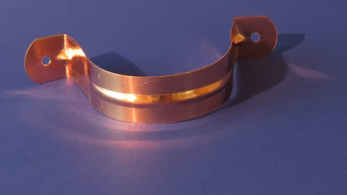 Copper Single Bead Downspout Strap