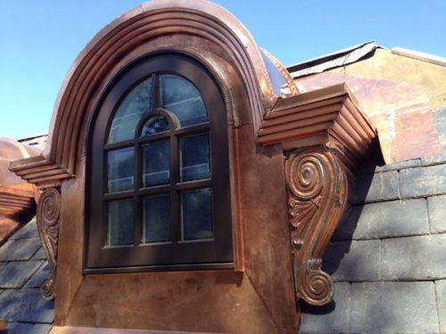 Custom Copper Dormer with Half-Round Window