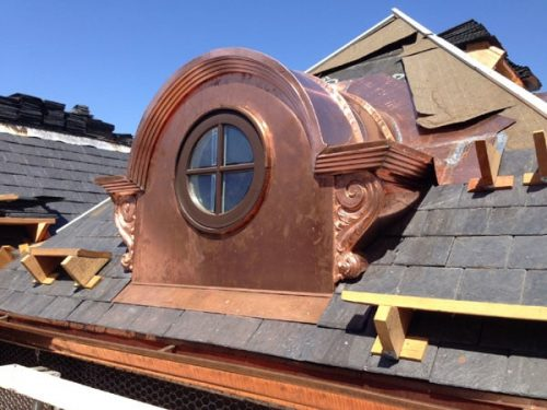 Custom Copper Dormer with Round Window