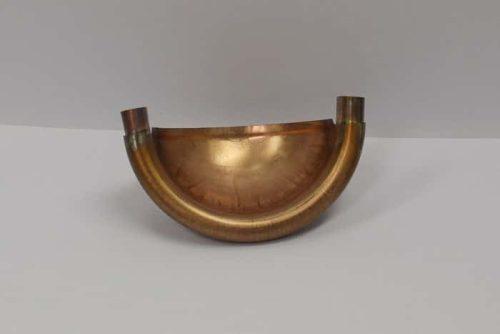 EuroGutterUSA Copper Quarterball Endcap