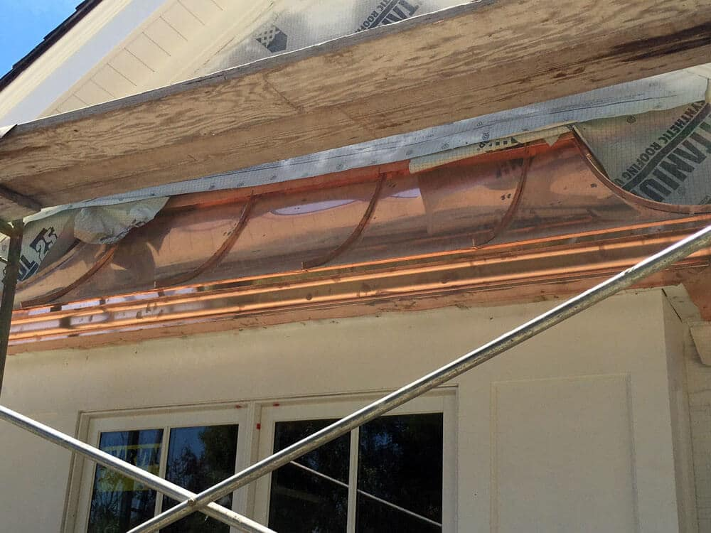 copper standing seam over bay window