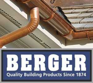berger copper gutters and roofing systems