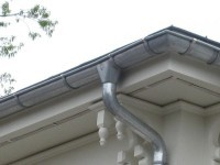 zinc gutter system for roof