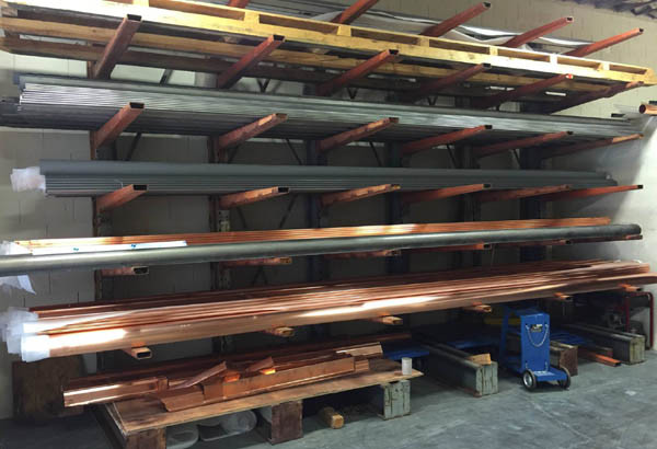 in stock copper gutters from kobett metals
