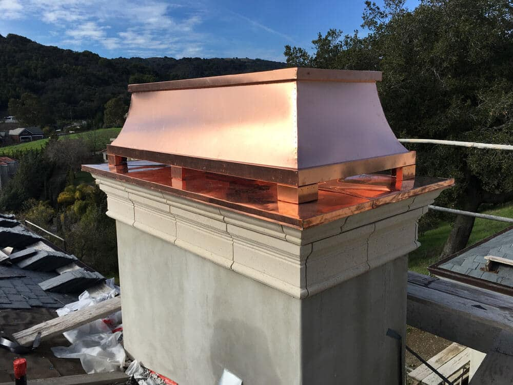 copper chimney cap smooth