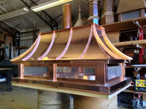 copper chimney top with mesh bottom
