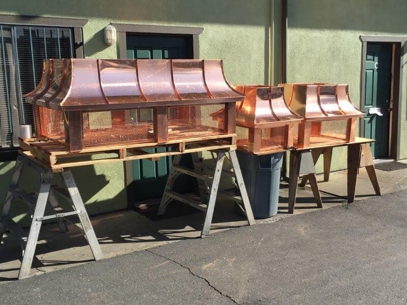 copper standing seam chimney tops