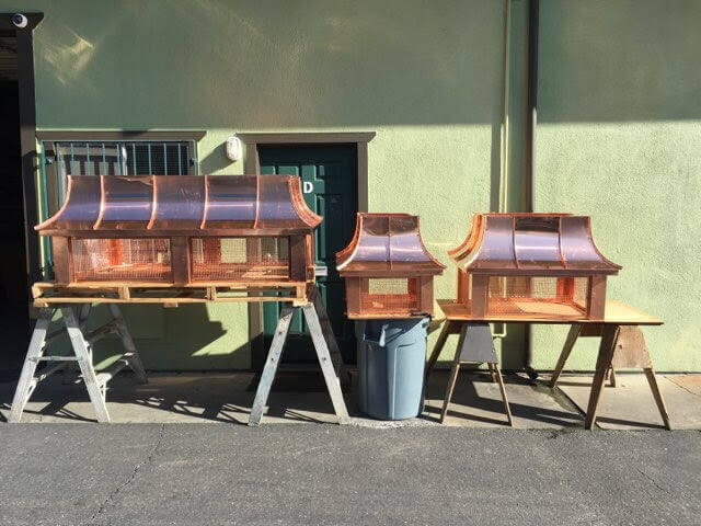 copper standing seam chimney tops