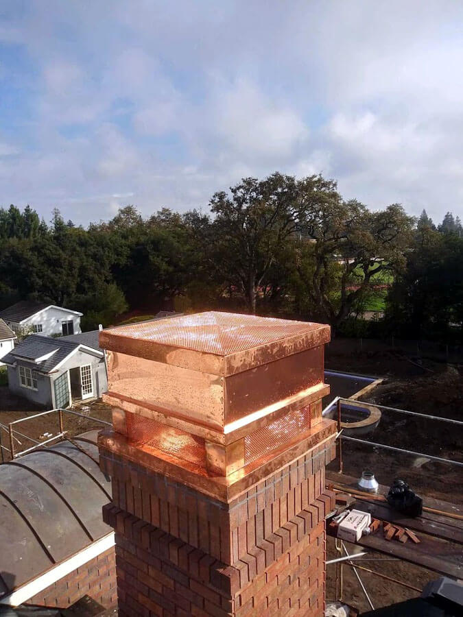 decco copper chimney top