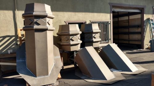 chimney caps in bonderized steel