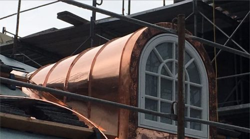 standing seam copper dormer window