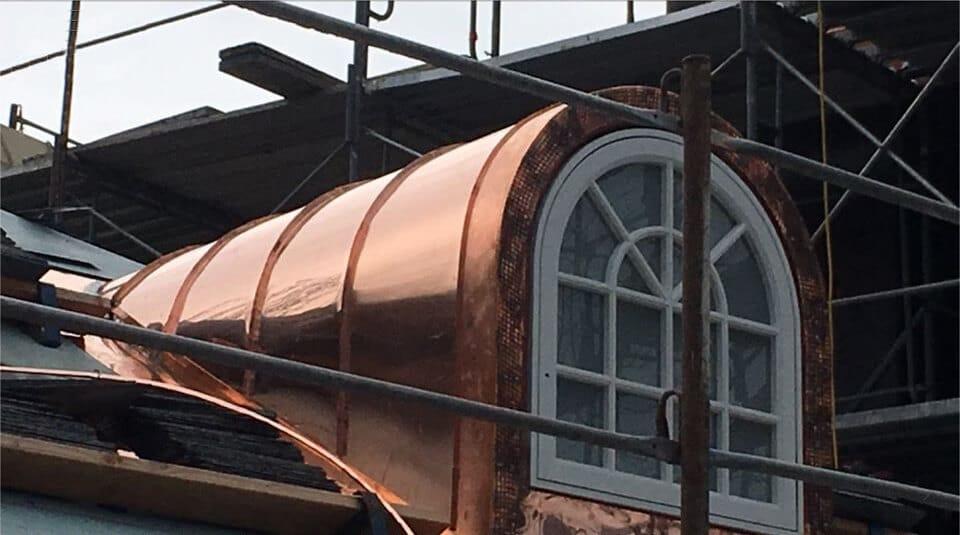 standing seam copper dormer window