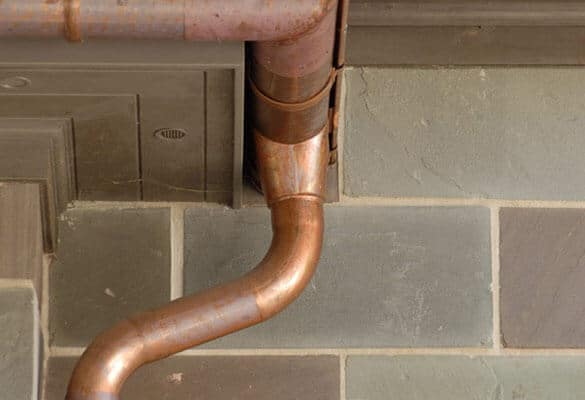 copper downspout elbow