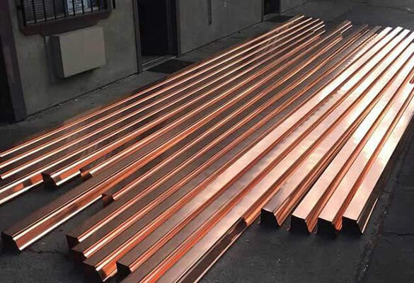 copper rain gutters