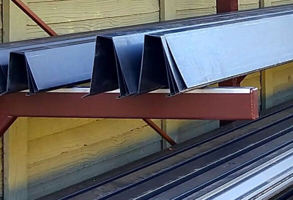 bonderized steel rain gutters and roofing materials