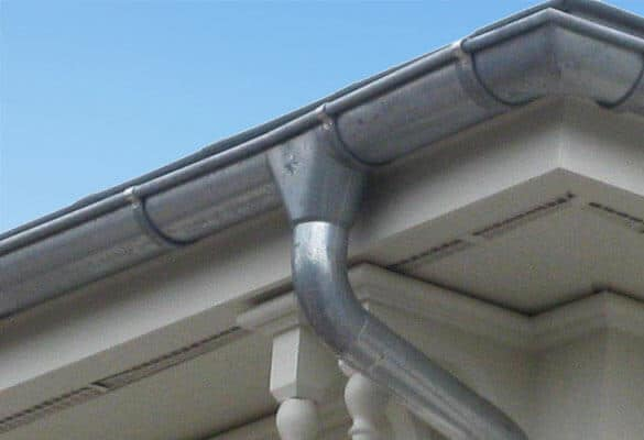 zinc rain gutters and roofing materials